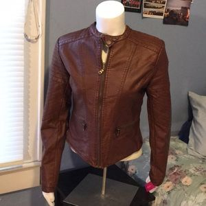 Xhilaration Faux Leather Jacket New With Tags🎉🎊